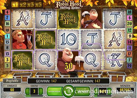 Robin Hood Shifting Riches Spielautomat screenshot 1