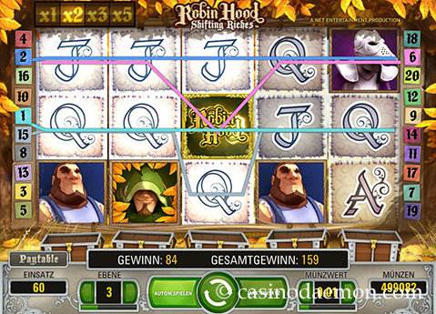 Robin Hood Shifting Riches Spielautomat screenshot 3