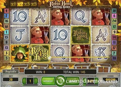 Robin Hood Shifting Riches slot screenshot 1