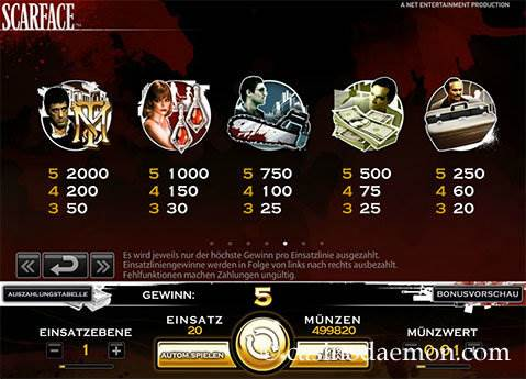 Scarface Spielautomat screenshot 4