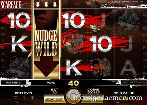 Scarface slot screenshot 1
