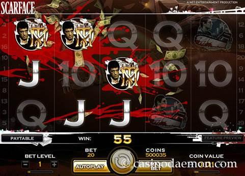 Scarface slot screenshot 2