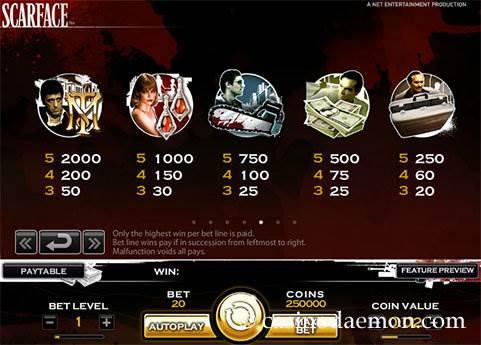 Scarface slot screenshot 4