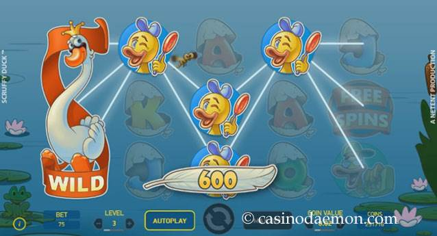 Scruffy Duck slot screenshot 1