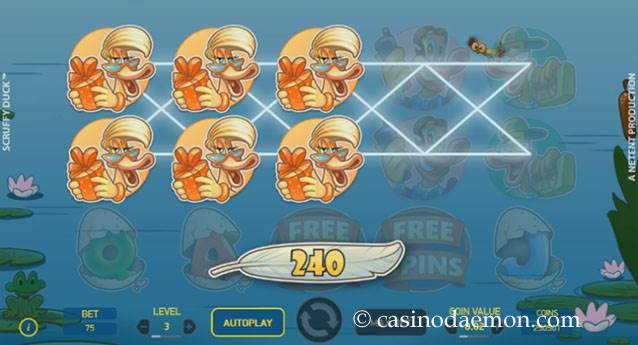 Scruffy Duck slot screenshot 3