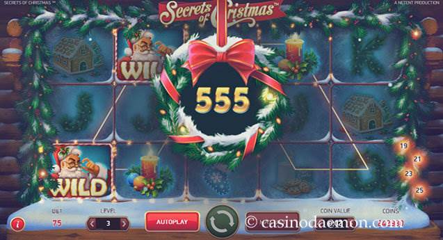 Secrets of Christmas Spielautomat screenshot 1