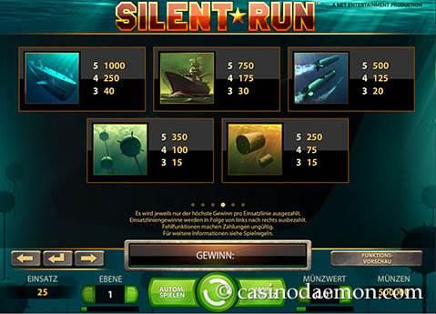 Silent Run Spielautomat screenshot 4