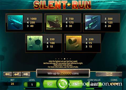 Silent Run slot screenshot 4