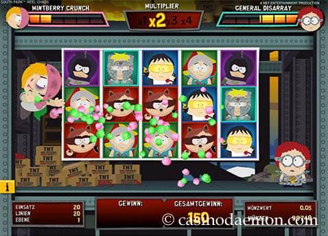 South Park Reel Chaos Spielautomat screenshot 1
