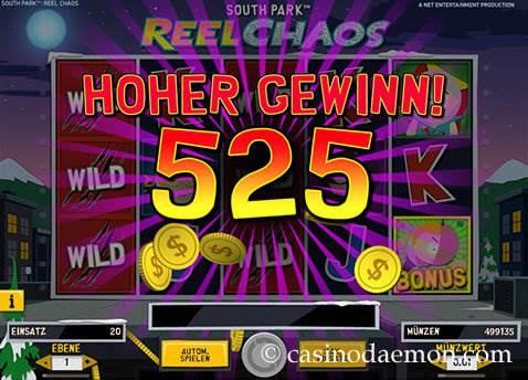 South Park Reel Chaos Spielautomat screenshot 3