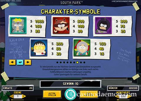 South Park Reel Chaos Spielautomat screenshot 4