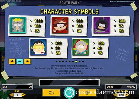 South Park Reel Chaos slot screenshot 4