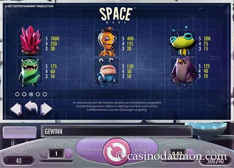 Space Wars Spielautomat screenshot 4