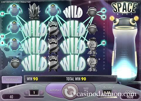 Space Wars slot screenshot 2