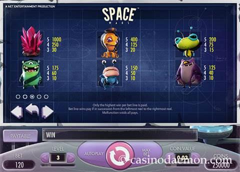 Space Wars slot screenshot 4