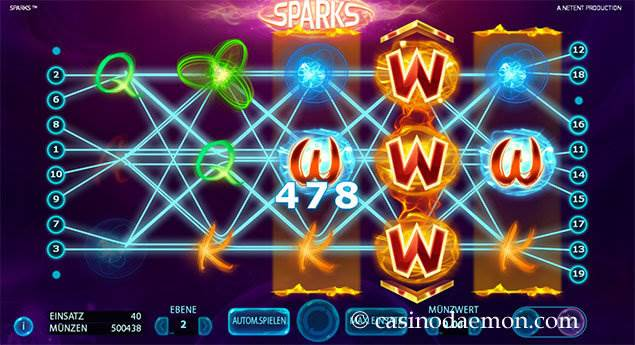 Sparks Spielautomat screenshot 2