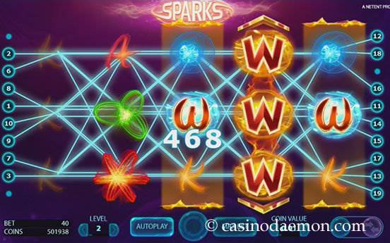 Sparks slot screenshot 1