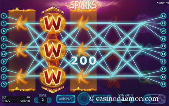 Sparks slot screenshot 3