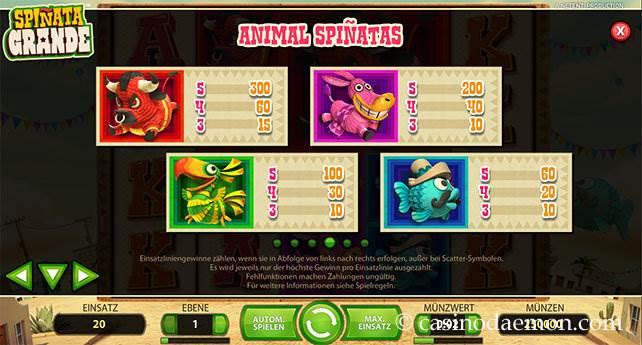 Spiñata Grande Spielautomat screenshot 4