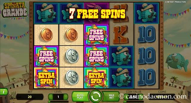 Spinata Grande slot screenshot 2