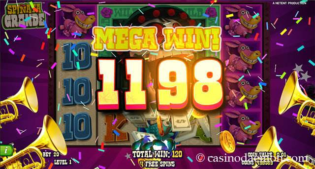 Spinata Grande slot screenshot 3