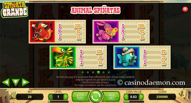 Spinata Grande slot screenshot 4