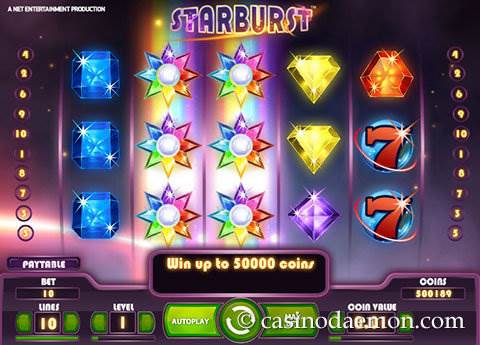 Starburst slot screenshot 4