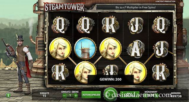 Steam Tower Spielautomat screenshot 1