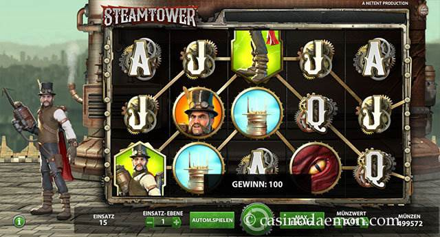 Steam Tower Spielautomat screenshot 2