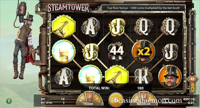 Steam Tower slot screenshot 1