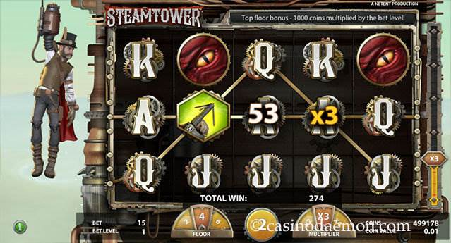 Steam Tower slot screenshot 3