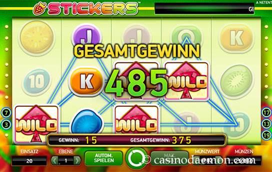 Stickers Spielautomat screenshot 1