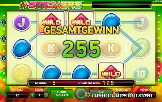 Stickers Spielautomat screenshot 2