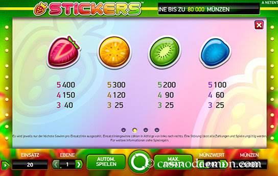 Stickers Spielautomat screenshot 4