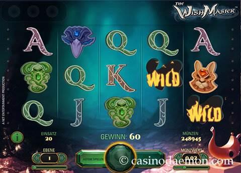 The Wish Master Spielautomat screenshot 1