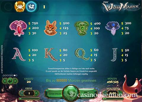The Wish Master Spielautomat screenshot 4