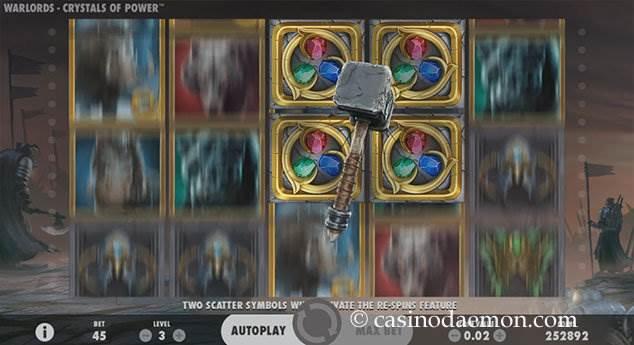 Warlords Spielautomat screenshot 1