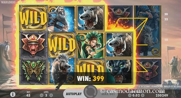 Warlords slot screenshot 2