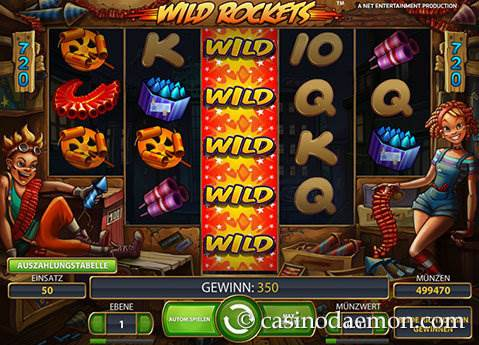 Wild Rockets Spielautomat screenshot 2