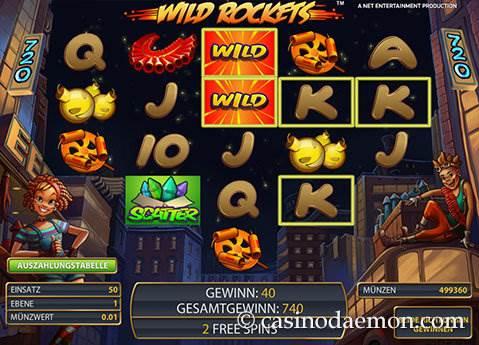 Wild Rockets Spielautomat screenshot 3
