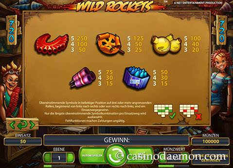 Wild Rockets Spielautomat screenshot 4
