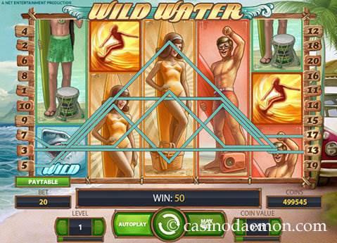 Wild Water slot screenshot 1