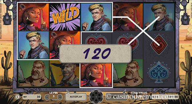 Wild Wild West slot screenshot 1