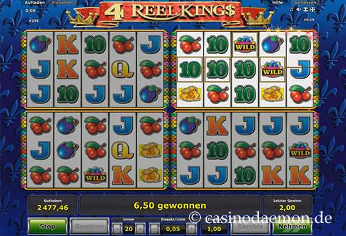 4 Reel Kings slot screenshot 1