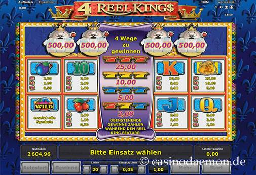 4 Reel Kings slot screenshot 4