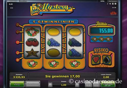 5 Line Mystery Spielautomat screenshot 1