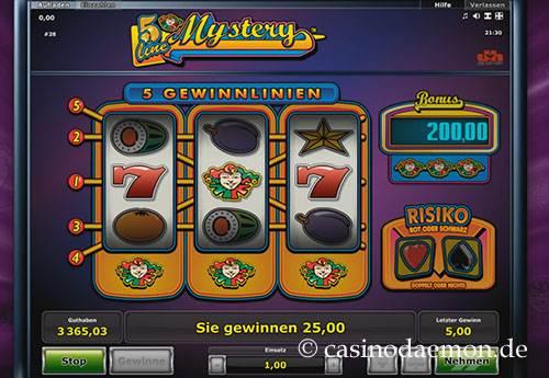 5 Line Mystery Spielautomat screenshot 3