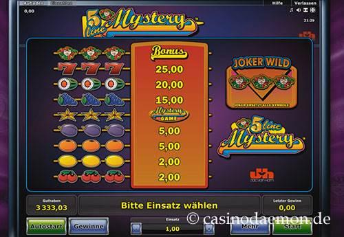 5 Line Mystery Spielautomat screenshot 4