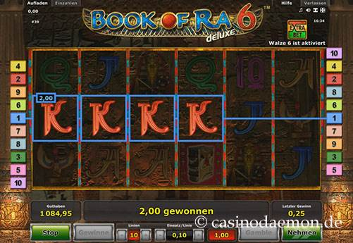 Book of Ra Deluxe 6 slot screenshot 1