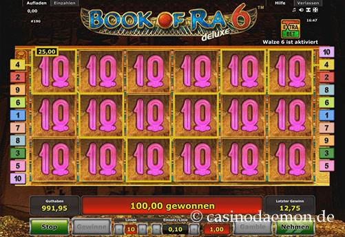 Book of Ra Deluxe 6 Spielautomat screenshot 2